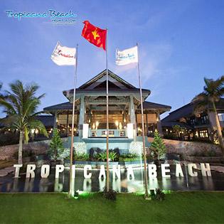 Tropicana Beach Resort & Spa Long Hải - Cao Cấp 4 Sao - 2N1Đ Phòng Superior Cho 2 Người Lớn + 01 Bé Dưới 06 Tuổi – Miễn Phí Hồ Bơi – Sân Tennis – Xe Đạp Đôi