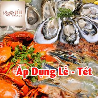 Áp Dụng Lễ, Tết - Buffet Tối Gánh Palace 4* - Hải Sản Cao Cấp Tại Phố Đi Bộ Nguyễn Huệ