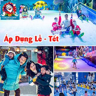 Áp Dụng Lễ, Tết - Khu Tuyết Snow Town Sài Gòn – Vé Trọn Gói Vui Chơi Trượt Tuyết + Selfie Chất Nhất Sài Gòn