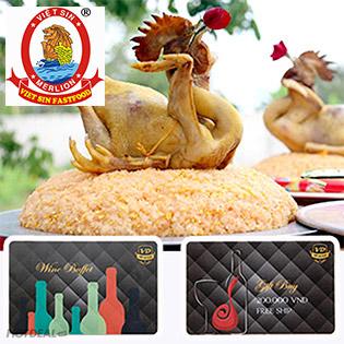 Gà Ta Cúng Lễ, Tết Nguyên Con Đúng Phong Tục Việt Nam + 1 Thẻ VIP Buffet Rượu 200k + 1 Thẻ VIP Mua Rượu 200k