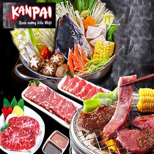 Buffet Nướng Lẩu Bò Mỹ, Hải Sản, Cá Hồi + Buffet Pepsi Không Giới Hạn Đến Hết 31/3 - Hệ Thống Nướng Nhật Bản Kanpai (Đã Bao Gồm VAT)