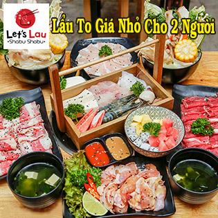 Combo Lẩu Hải Sản/ Bò Mỹ 06 Món Siêu To Cho 02 Người - Nhà hàng Let's Lau