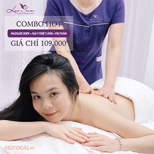 Massage Body Tinh Chất Aroma + Massage Mặt/ Triệt Lông Vĩnh Viễn SHR Và Công Nghệ Trị Thâm Nách LASER YAG + IPL Tại VTM Les Sam