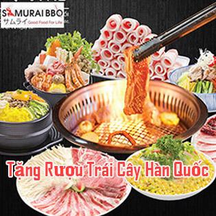 Buffet Tối Gần 70 Món BBQ Bò Mỹ, Hải Sản, Sushi & Lẩu Nhật Tại Samurai BBQ - Tặng Buffet Kem