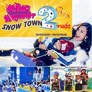 HOT – Ưu Đãi Mừng Sinh Nhật Snow Town 2 Tuổi - Combo 02 Vé Vui Chơi Khu Tuyết Giá Chỉ 200.000 Đồng