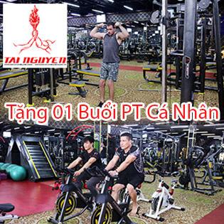 Hệ Thống 9 CN Gym Tài Nguyên - Trọn Gói 1 Tháng Tập Gym Không Giới Hạn Thời Gian - Tặng 01 Buổi HLV Cá Nhân