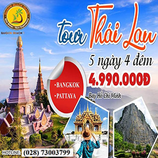 Tour VIP Thái Lan 5N4Đ – Bangkok – Pattaya - Buffet 86 Tầng – Trại Hổ Tiger Zoo - Đảo Kohland San Hô Tuyệt Đẹp - Show Chuyển Giới – Tặng 01 Tiệc BBQ Hải Sản - Tặng Massage Thái Cổ Truyền