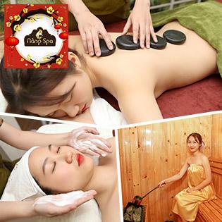 Hệ Thống Nàng Spa & Academy – Xông Hơi + Massage Body Đá Nóng + Foot/ Chăm Sóc Da Mặt Với Hoa Nghệ Tây