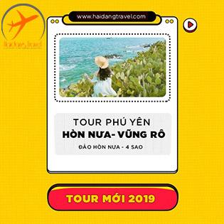 Tour Phú Yên – Đảo Hòn Nưa 3N3Đ Chuẩn 4 Sao – Ngắm Hoa Vàng Trên Cỏ Xanh – Thắng Cảnh Gành Đá Đĩa – Ăn Hải Sản Tại Bè