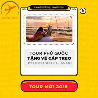 Tour Phú Quốc 3N3Đ Siêu Hot - Xe Giường Nằm - Tặng Vé Cáp Treo Hòn Thơm - Sunset Sanato – Khám Phá Vinpearl – Safari Phú Quốc – Buffet Trưa Hòn Thơm