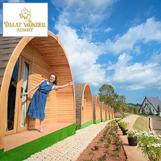 Đà Lạt Wonder Resort 4* Cao Cấp - 2N1Đ Phòng Bungalow Cho 2 Khách – Gồm Ăn Sáng – Hồ Bơi Vô Cực – Ngắm Thiên Đường Châu Âu Thu Nhỏ