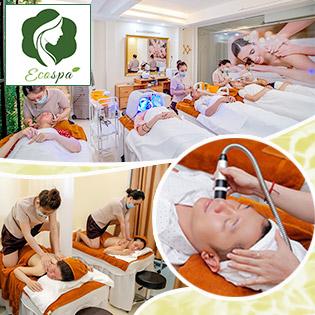 (120') Massage Mặt Chuyên Sâu/ Massage Body Tinh Dầu Đá Nóng/ Se Khít Vùng Kín + Tặng Combo Ngâm Chân Đá Himalaya + Xông Hơi - Tại Eco Spa