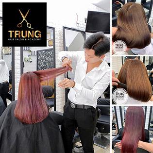 Trọn Gói Làm Tóc Uốn/ Duỗi/ Nhuộm + (Tặng) Hấp Dầu Trị Giá 500K Tại Trung Hair Salon