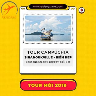 Tour Campuchia 3N3Đ Biển Sihanoukville – Đảo Thiên Đường Kohrong Saloem – Kampot – Bokoh – Biển Kép – Phnompenh – Naga World – Thưởng Thức Lẩu Băng Chuyền