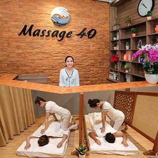 Thư Giãn Trọn Gói (60 Phút) Massage Body Đá Nóng + Xông Hơi + Ngâm Chân Muối Khoáng Tại Massage 40 - Thương Hiệu Uy Tín Gần 20 Năm