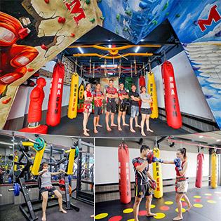 Tập Cùng Huấn Luận Viên Suốt 30 Ngày - Tại Hệ Thống 4CN MMA - Gym Fitness - Không Giới Hạn Tập Kick Boxing, Sasuke, Leo Núi Nhân Tạo, Gym, Fitness