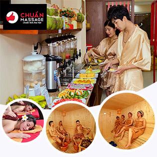 Buffet Massage Body 10IN1 Cho 2-5 Người + Buffet Món Ngọt 20 Món Dùng Ko Giới Hạn - Chuẩn Massage & Spa