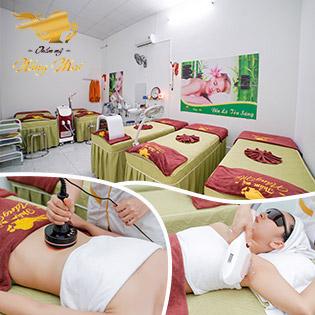 Massage Body Đá Nóng/ 2 Lần Triệt Lông Tại Thẩm Mỹ Nắng Mai
