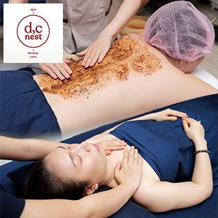 60 Phút Massage Body Tinh Dầu + Tắm Tẩy Cafe + Ngâm Chân Thảo Mộc Không Giới Hạn Tại D.C Nest Beauty And Spa