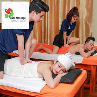 Giá Sốc - 120 Phút Combo Đặc Biệt Massage body Tinh Dầu Đá Nóng + Foot + Xông Hơi Thảo Dược + Tắm Lá Giao Đỏ Tại Massage Khỏe Đẹp
