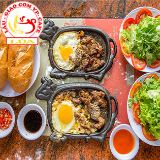Combo 02 Bò Lửa Hồng 03 Món + Salad + Nước Ngọt + Bánh Mì Cho 02 Người – Quán Lúa CN Bò 3 Ngon