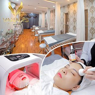 90 Phút - 10 Bước Chăm Sóc Da Chuyên Sâu + Thải Chì + Massage Thư Giãn + Chạy Vitamin C + Đắp Mặt Nạ Chiếu Ánh Sáng Tăng Collagen Tại Vanadis - Beauty Clinic