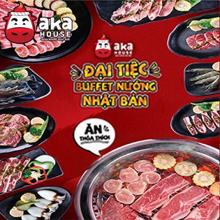 Aka House 15 Chi Nhánh – Yakiniku Buffet Hơn 90 Món Bò Mỹ, Hải Sản Nướng & Lẩu