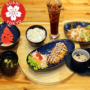 4 Combo Món Nhật Giá Sốc + 1 Ly Nước Trái Cây Tại Sushi Tokyo
