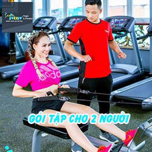 SannyWow Fitness & Yoga 5* Trọn Gói Cho 2 Người Tập Gym, Yoga 4IN1 Chuẩn Châu Âu + Suất Ăn 7IN1 Độc Quyền!