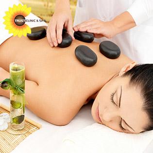 Combo Đặc Biệt Body Dưỡng Sinh Massage Tinh Dầu + Đá Nóng + Đắp Bùn Cứu + Ngâm Tắm Lá Dao Đỏ + Xông Hơi Thảo Dược Tại Trust Clinic Spa