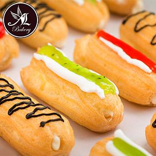 Combo 20 Bánh Su Kem Sữa Tươi Phủ Socola/ Dâu/ Kiwi, Giao Hàng Tận Nơi - Thiên Thần Bakery