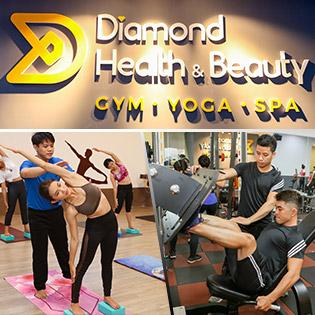 1 Tháng Tập Gym, Yoga, Zumba Không Giới Hạn Tại Diamond Health & Beauty