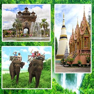 Tour Tham Quan Lào 4N3Đ Cực Mới Lạ - Tham Quan Siphandon – Cao Nguyên Boloven – Di Sản Thế Giới Watphou – Trải Nghiệm Cưỡi Voi Se Pian