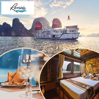 Tour VIP Du Thuyền Renea Cruises Đẳng Cấp 4* – Khám Phá Vẻ Đẹp Vịnh Hạ Long 2N1Đ - Trải Nghiệm Thú Vị - Không Phụ Thu Lễ Và Cuối Tuần - Không Áp Dụng Cho Khách Nước Ngoài