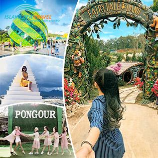 Tour Đà Lạt 2N2Đ – Dalat Fairy Tale Land – Đồi Chè Cầu Đất - Hoa Sơn Điền Trang – Lạc Trôi Cổng Trời Đà Lạt – Thác Bảy Tầng Pongour