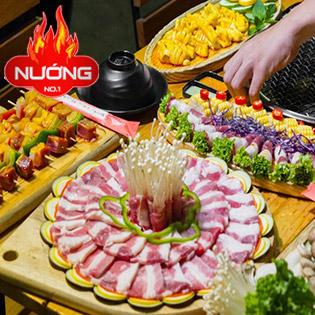 Buffet 75 Món Nướng Hải Sản, Bò Mỹ, Tôm, Hàu Ăn Thà Ga - Nhà Hàng Nướng No.1