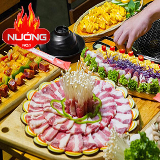 Buffet Hơn 80 Món Lẩu + Nướng Bò Mỹ, Hải Sản, Tôm, Hàu - Nhà Hàng Nướng No.1