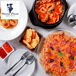 Hệ Thống 02 Chi Nhánh Buzza Pizza - Combo Seafood Dành Cho 3 - 4 Khách Hàng