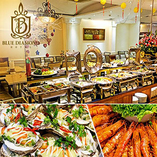 Buffet Trưa Tặng Nước Sâm Giải Nhiệt Uống Thoải Mái Với Hơn 40 Món Hấp Dẫn Tại Khách Sạn Blue Diamond 3*