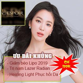 L'eSpoir Beaute & Clinique 5* - Giảm Béo, Trị Nám, Trắng Mịn, Khỏe Da Công Nghệ Hiện Đại 2019