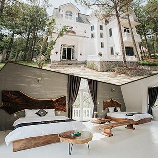 Tremolo Villa Đà Lạt - Phòng Đôi (Giường King) 2N1Đ Dành Cho 04 Người - Nằm Trong Khu Nghỉ Dưỡng Cao Cấp Hồ Tuyền Lâm - Không Phụ Thu Lễ, Tết