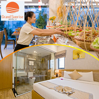 Grand Sunrise 2 Hotel 3* Đà Nẵng - 2N1Đ Phòng Superior - Bao Gồm Ăn Sáng Buffet Hoặc Sermi Buffet – Miễn Phí Sử Dụng Hồ Bơi - Không Phụ Thu Cuối Tuần
