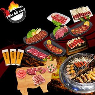 Combo Nướng 09 Món Bò Xuyên Lục Địa Cho 03-04 Người - Trại Bò BBQ