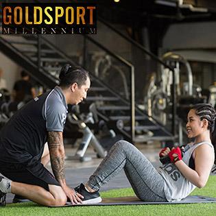 Hệ Thống Phòng Tập GoldSport Millennium Đẳng Cấp - 1 Tháng Tập Luyện Full Dịch Vụ Tặng Kèm 2 Buổi Huấn Luyện Viên Cá Nhân