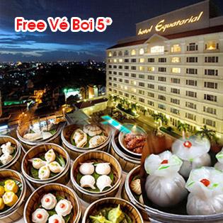Buffet Dimsum 5* Buổi Trưa Hơn 70 Món Tại Orientica - Miễn Phí Hồ Bơi Tại Khách Sạn Equatorial Hotel