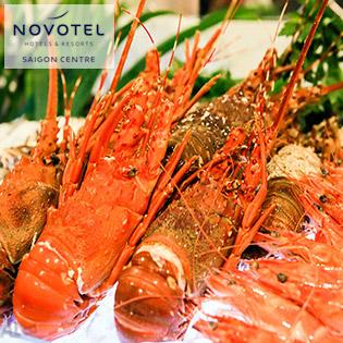 Novotel Saigon Centre 4* - Buffet Quốc Tế 80 Món Tôm Hùm, Hải Sản + Buffet Rượu Vang, Bia, Softdrink – Đã Bao Gồm VAT