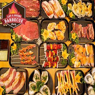 Hot - Thưởng Thức Buffet Tối Nướng & Lẩu Bò Mỹ, Hải Sản Tại Nhà Hàng BBQ Riverside