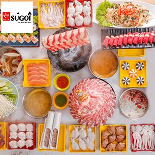 Buffet Lẩu Sugoi Hotpot - Thiên Đường Lẩu Với 6 Loại Nước Lẩu Và 50 Món Nhúng