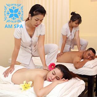 Buffet 90 Phút Massage Aroma/ Đá Nóng + Ngâm Chân + Đắp Mặt Nạ + Bấm Huyệt Thư Giãn (Tay Nghề Cao) Tại AM Spa