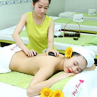28 Bước 120 Phút Massage Body + Massage Foot + Ngâm Chân + Chạy Vitamin C/ Hấp Trắng Mặt/ Toàn Thân - Spa Ngô Trâm